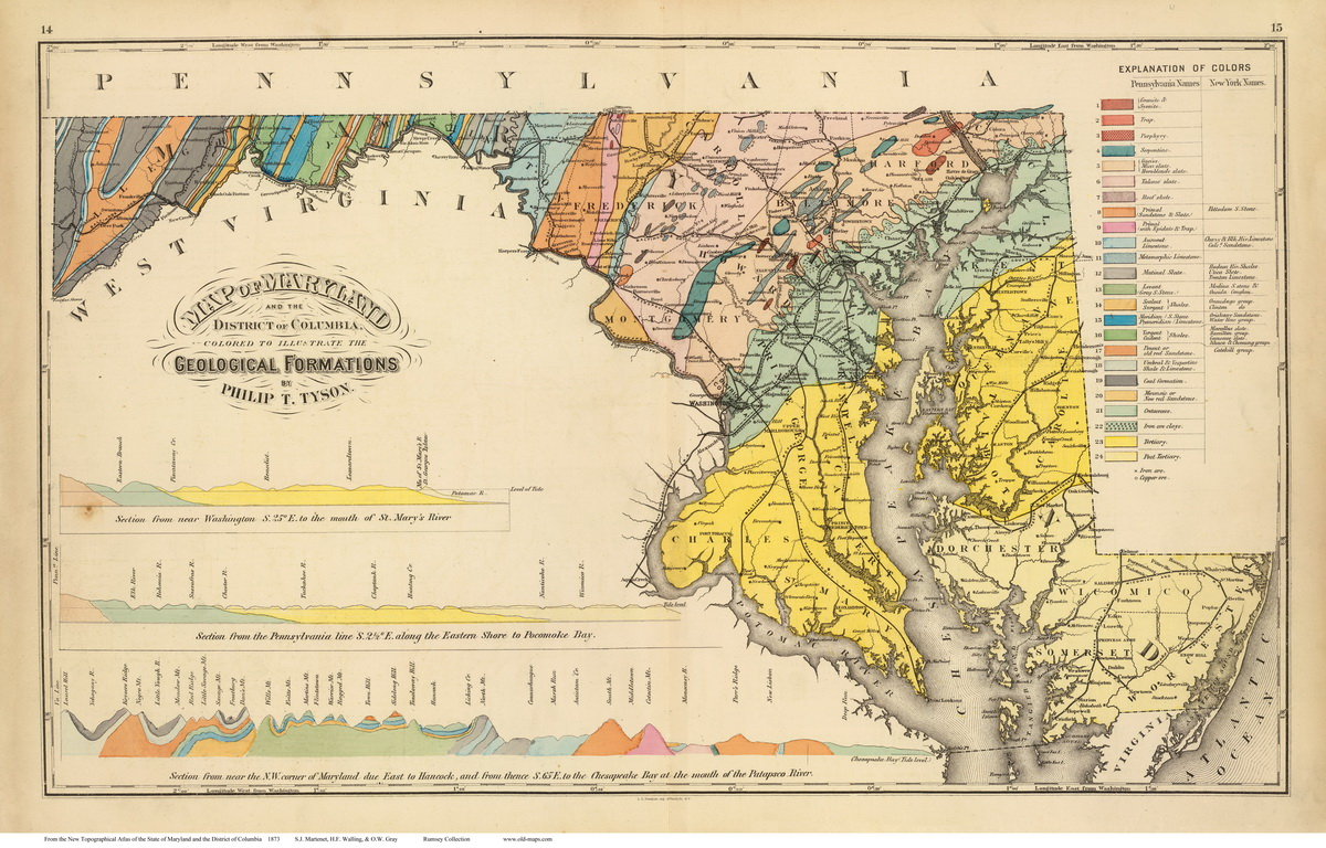 1873 Atlas of Maryland - State Maps