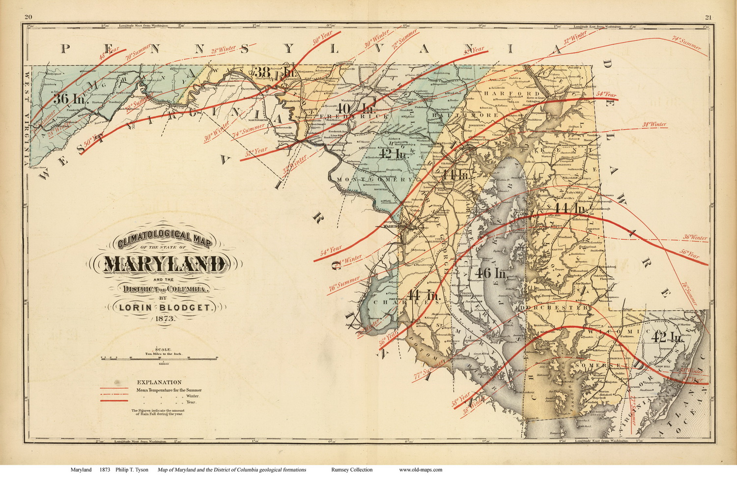 Maryland State Maps Page - Map of md