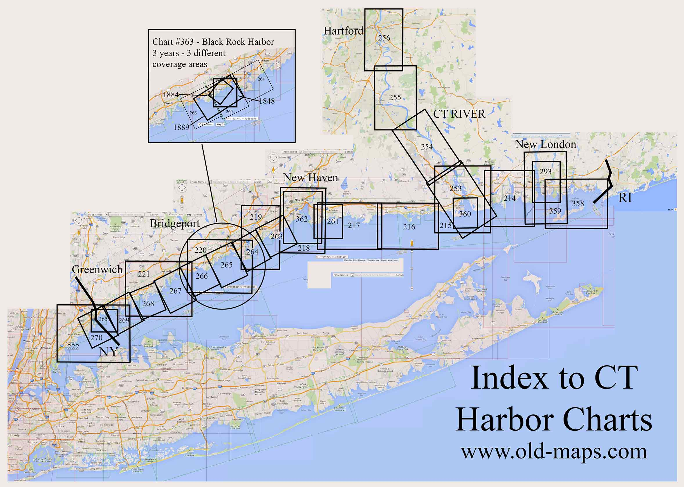 Connecticut Nautical Chart Index