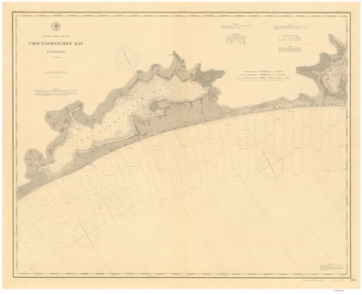 Florida Coast 80,000 Scale Nautical Chart