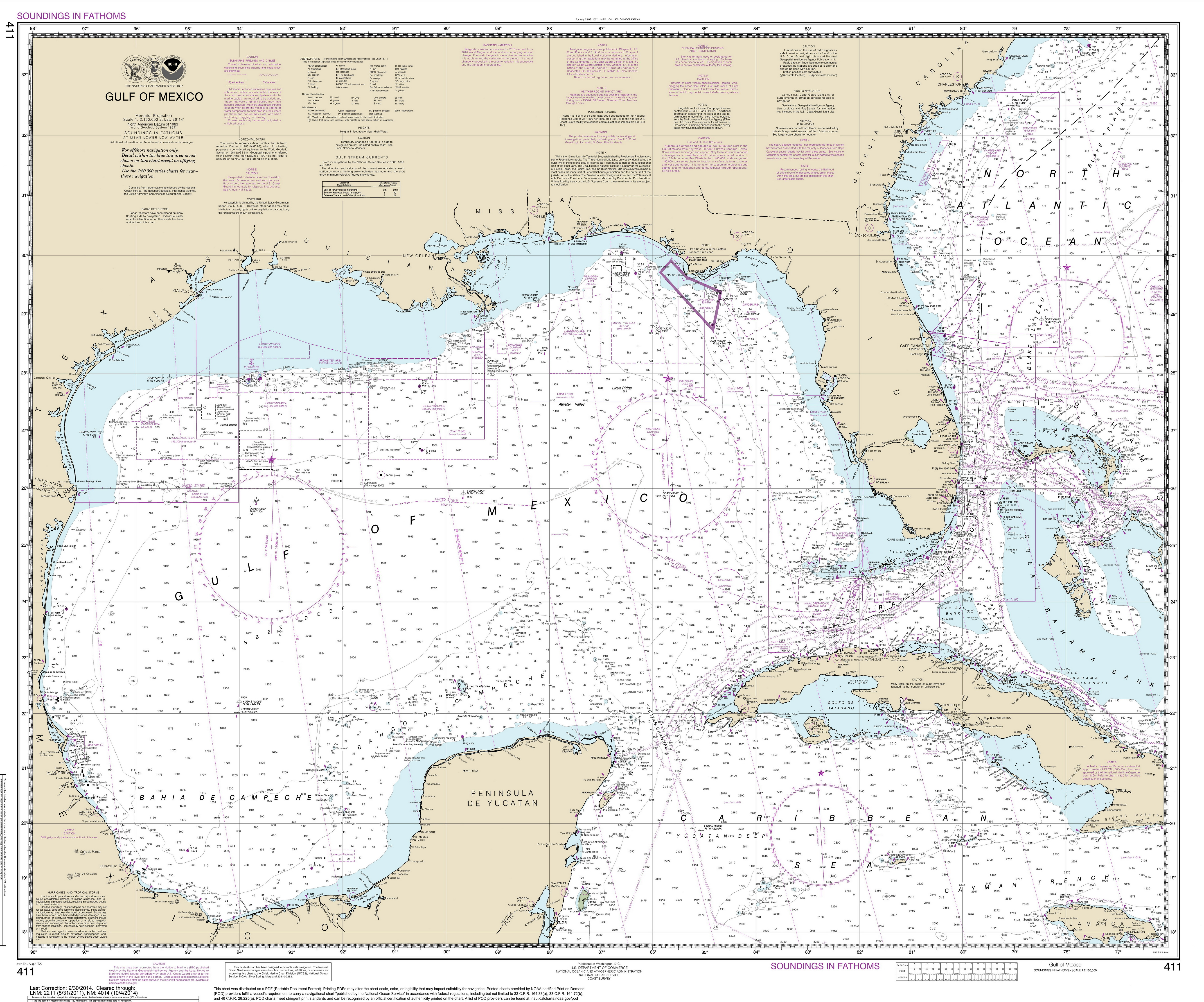 Old Maps of Florida  Gulf Of Mexico