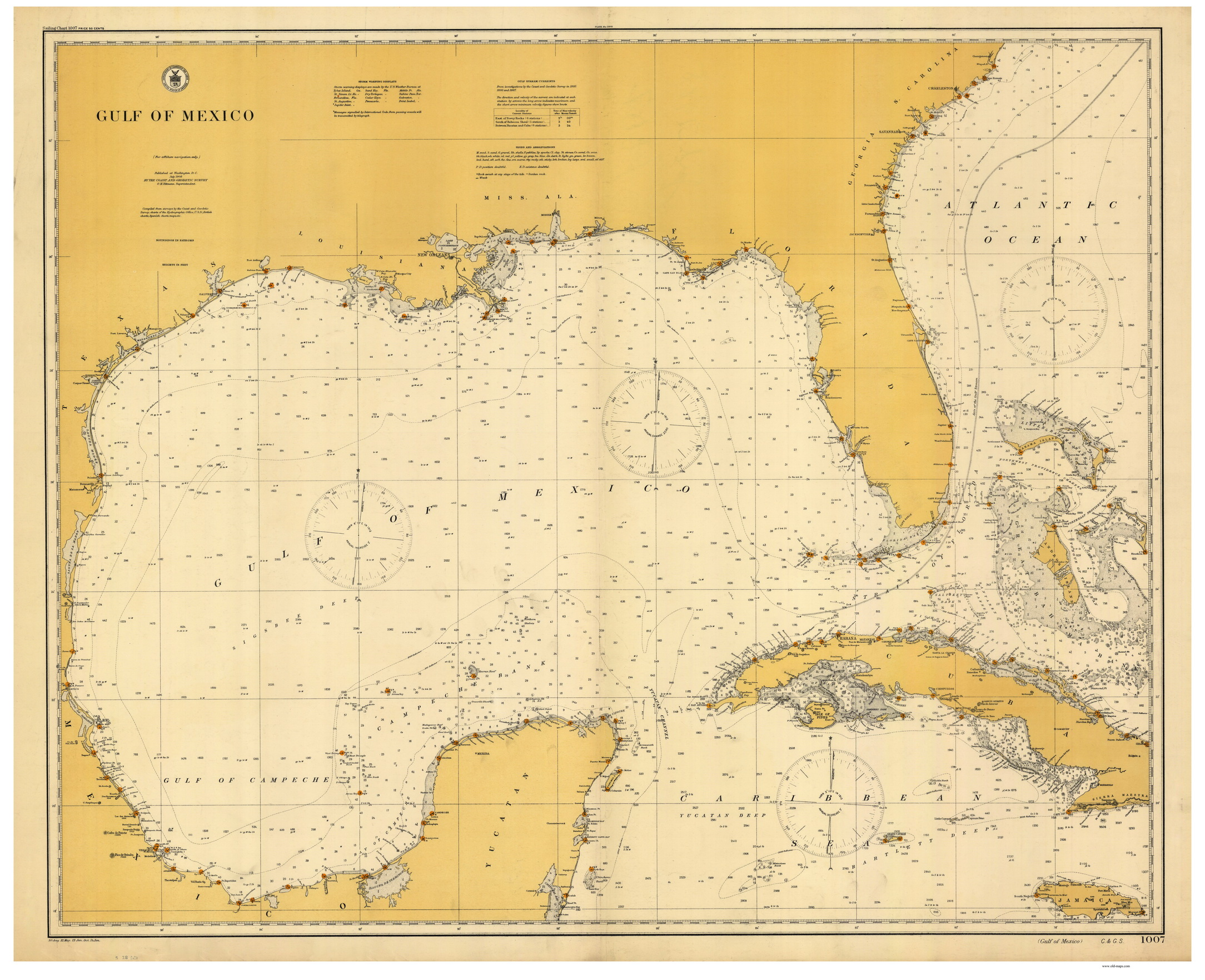 Old Maps Of Florida Gulf Of Mexico - Nautical maps atlantic us