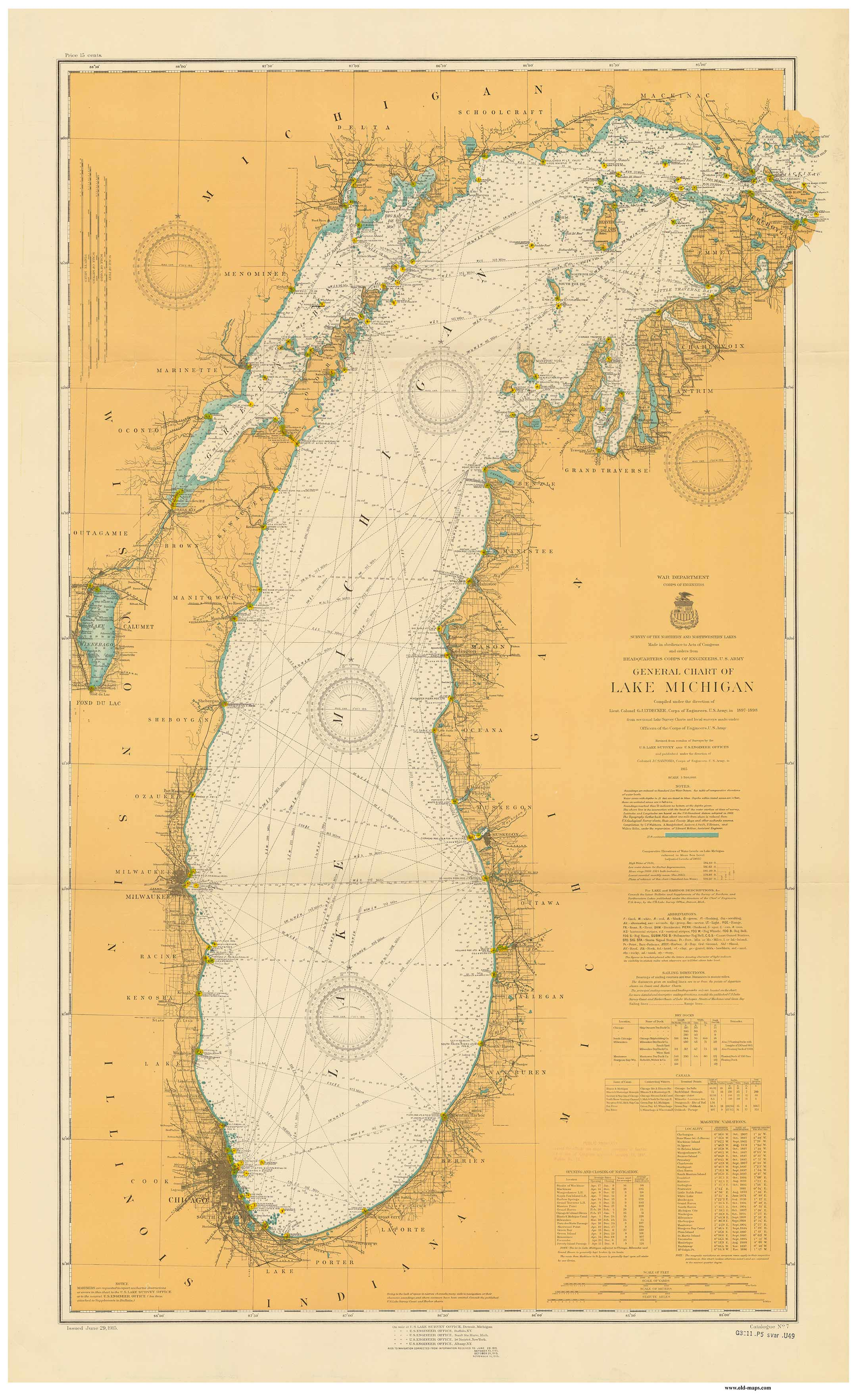 New York Historical Nautical Charts - Michigan lake maps