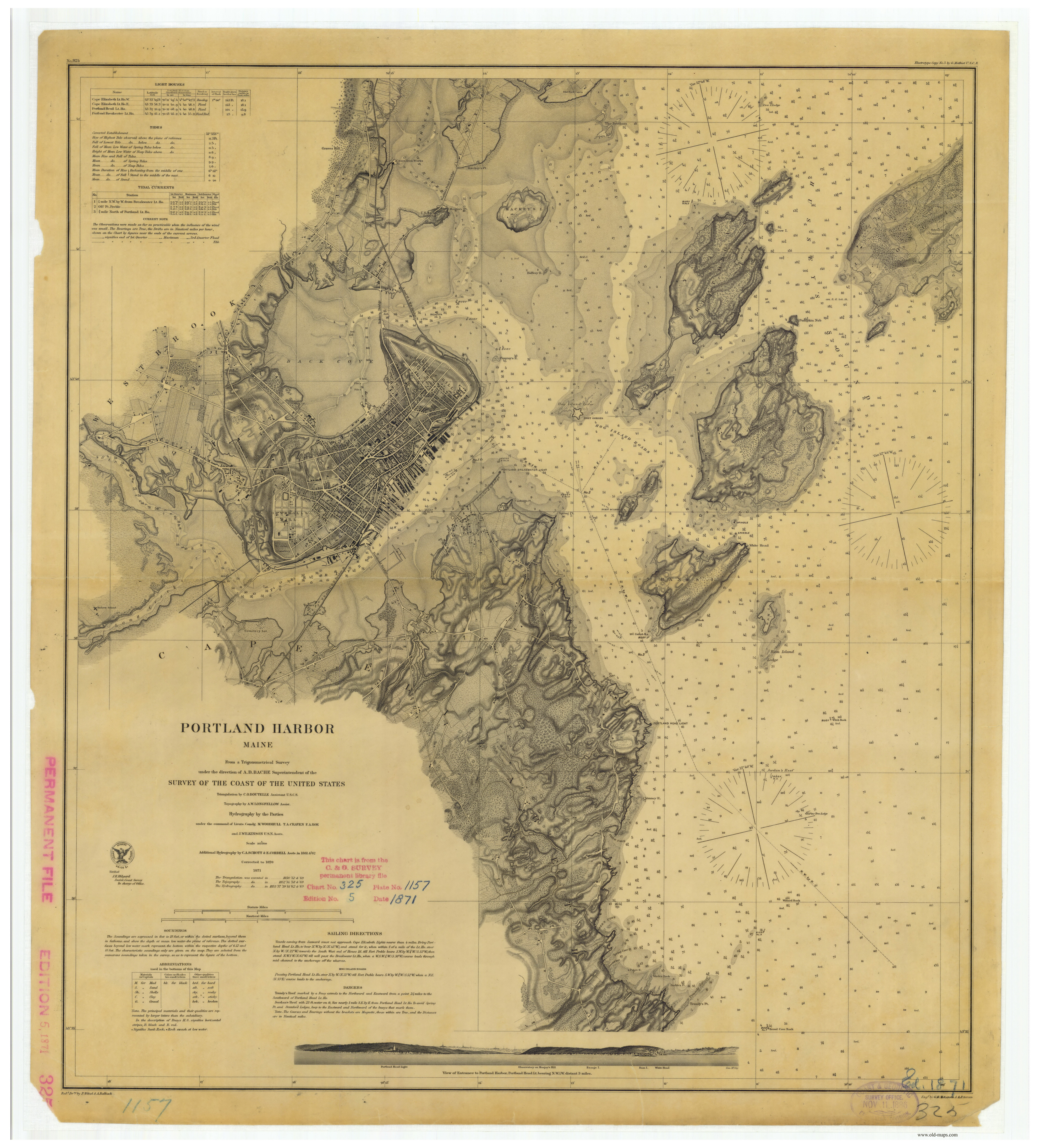 Historical Nautical Charts of Maine - Portsmouth NH to Portland