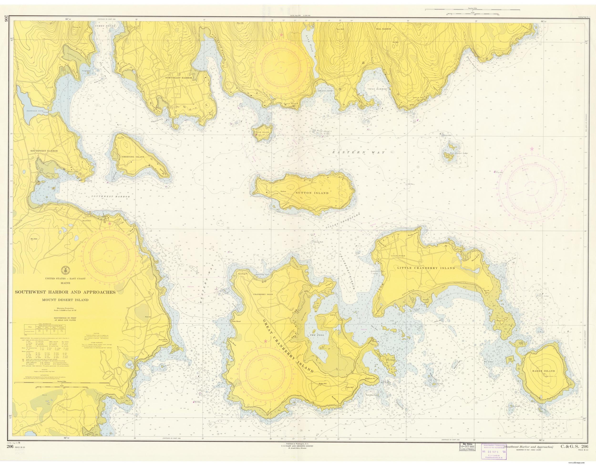 Northeast Harbor Maine Map.Historical Nautical Charts Of Maine Mount Desert Island