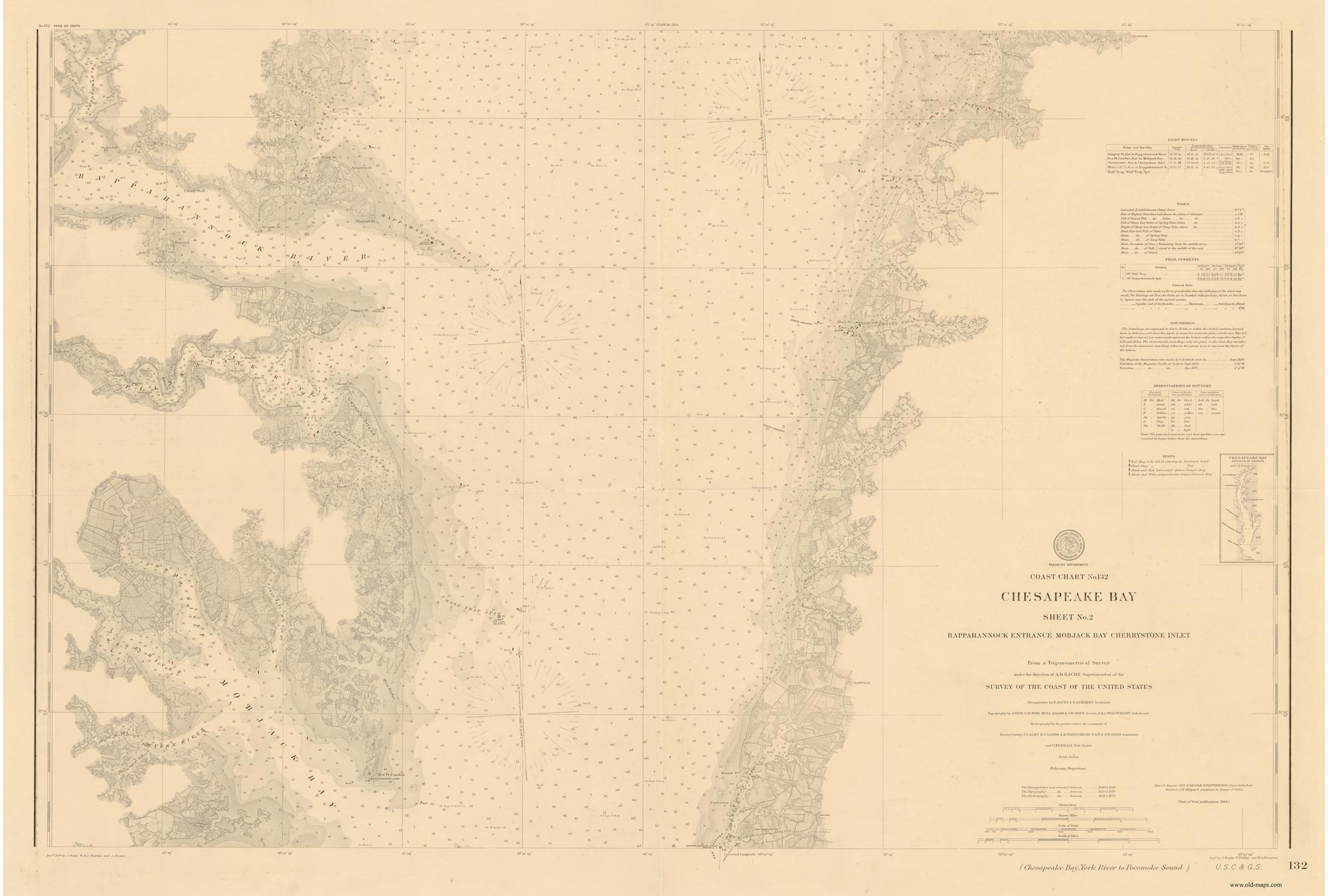 Historical Nautical Charts of the Chesapeake Bay 180000