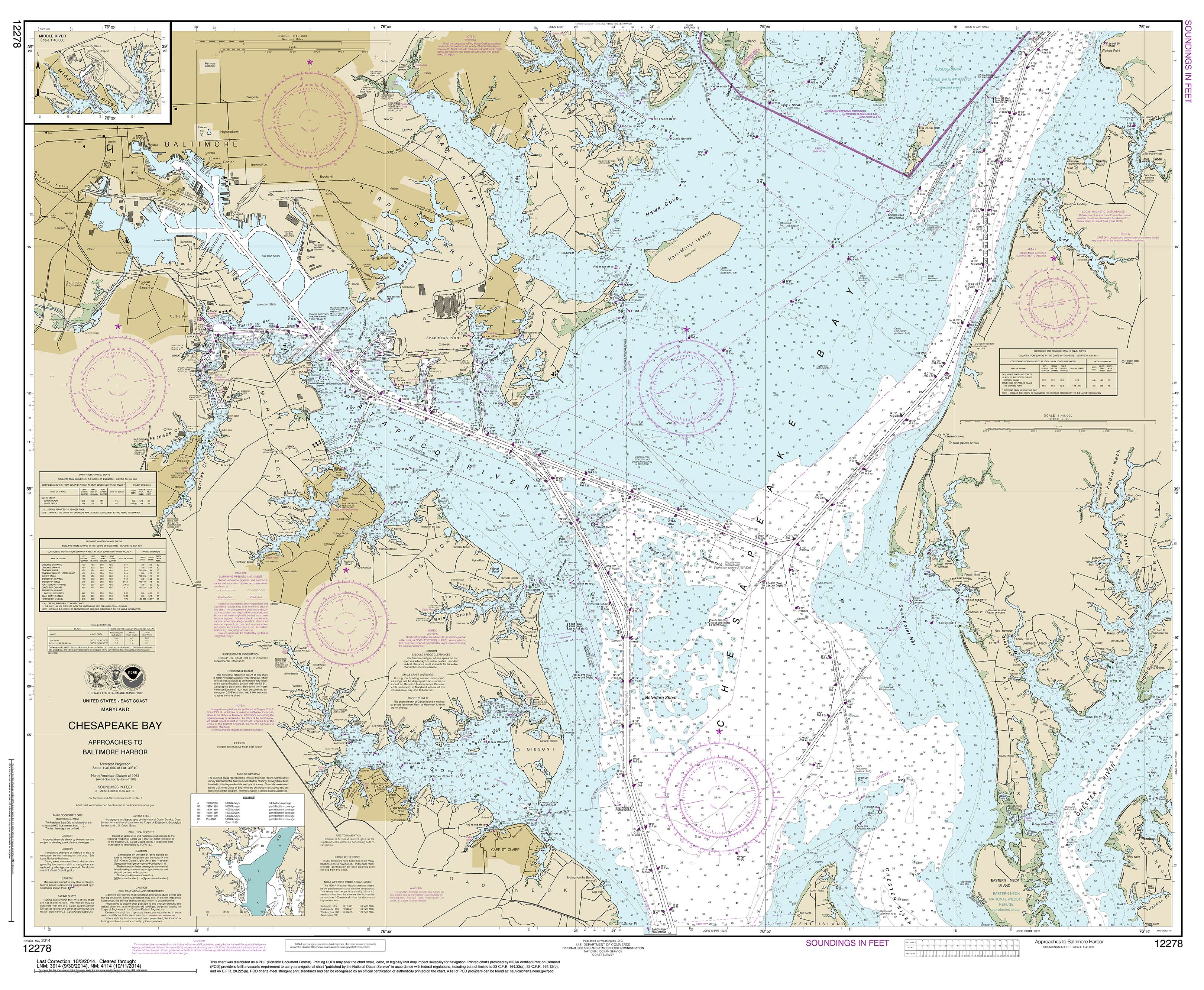 Maryland map chesapeake bay