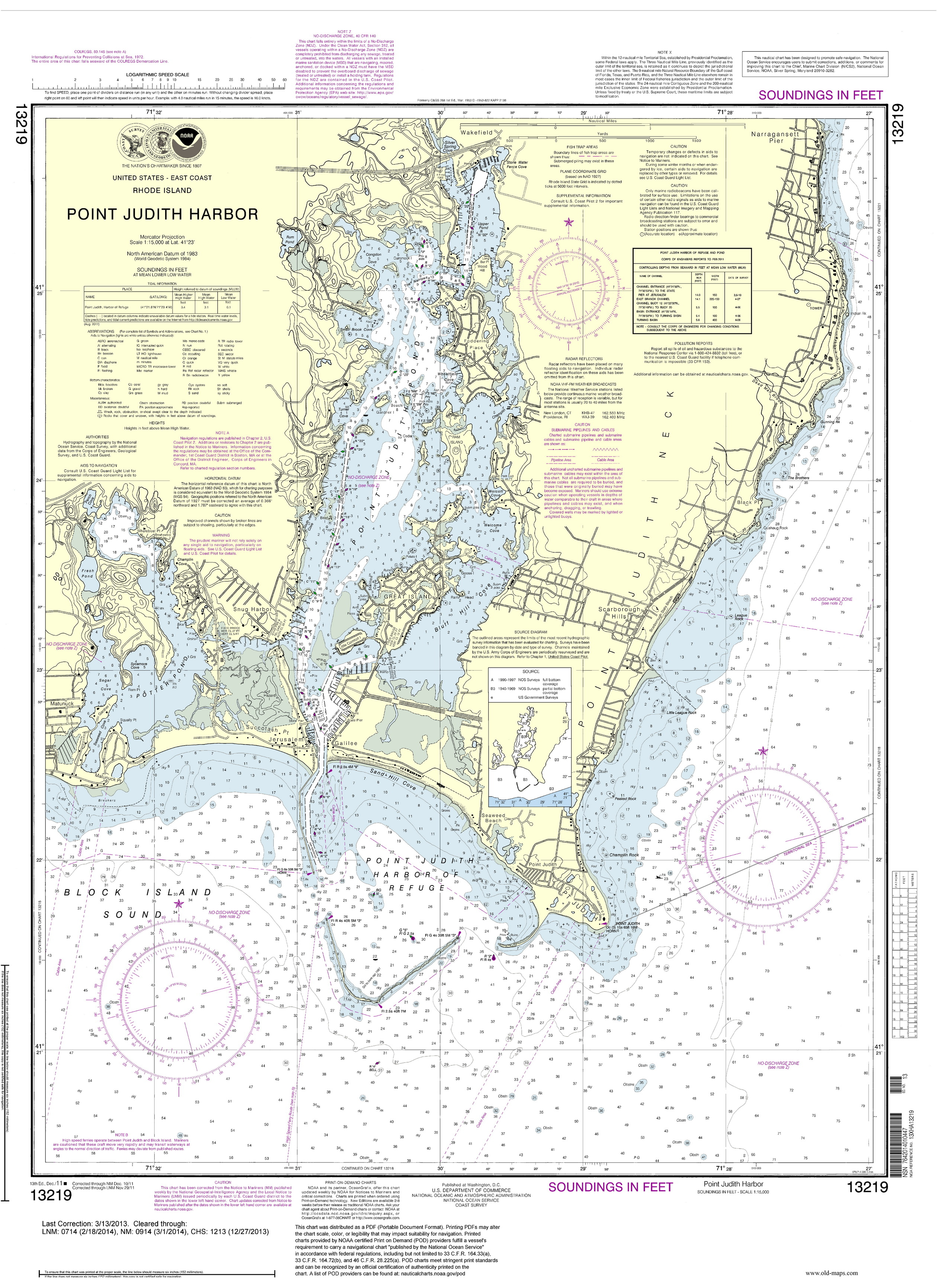 2013 Nautical Maps of Rhode Island