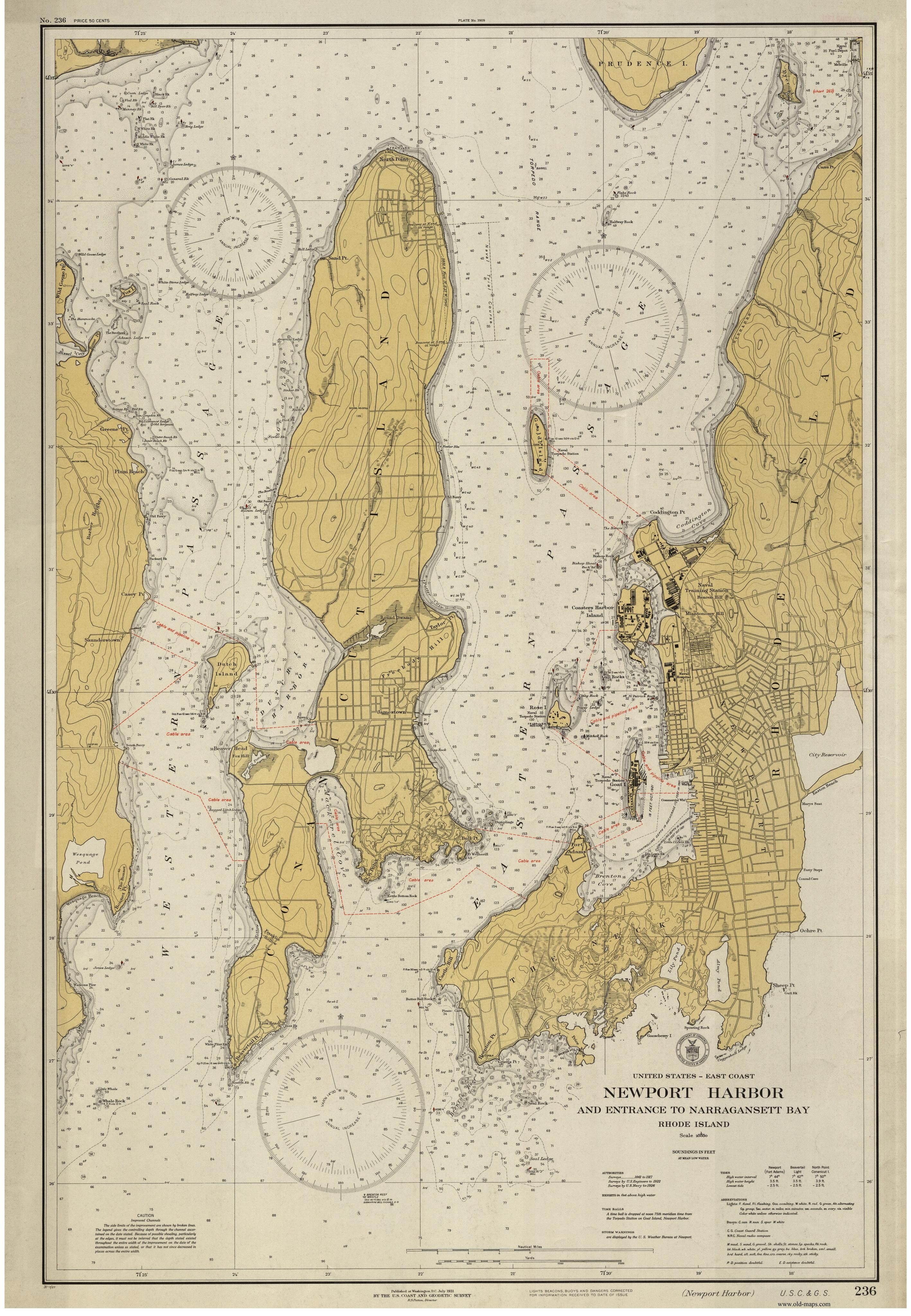 Old Maps Rhode Island