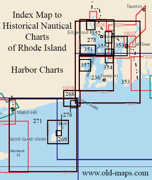 Index Map to Historical Nautical Charts of Rhode Island
