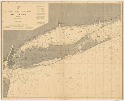 1899 Nautical Chart of Long Island