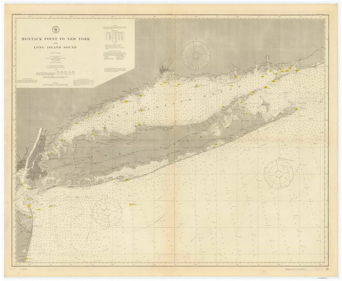 1911 Nautical Chart of Long Island