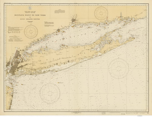 1931 Nautical Chart of Long Island