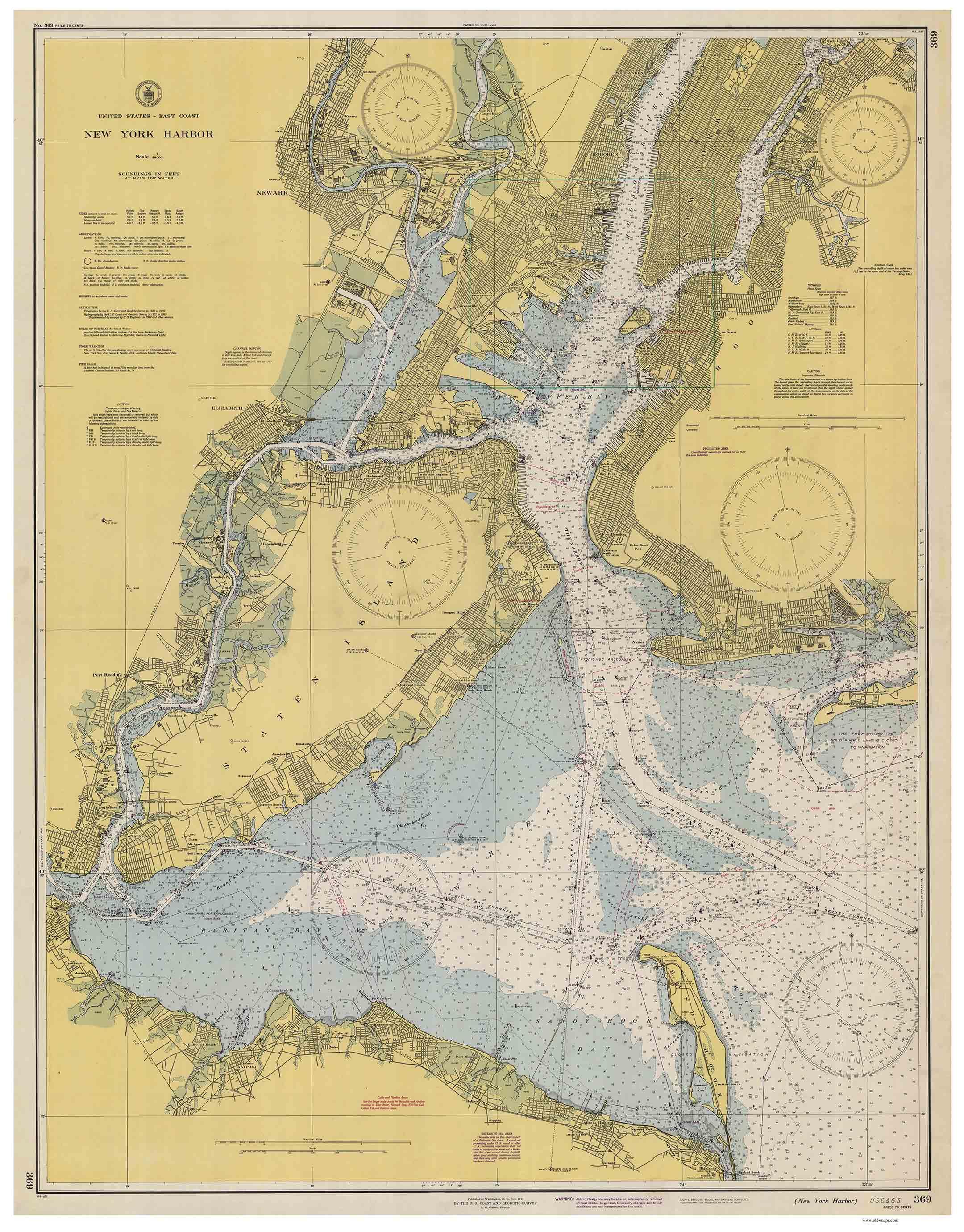 New York Historical Nautical Charts