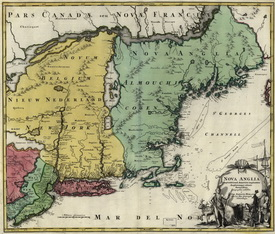 Old New England Map.Colonial New England Maps