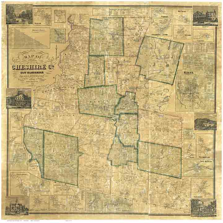 Old Maps Of Cheshire County - Historical wall maps