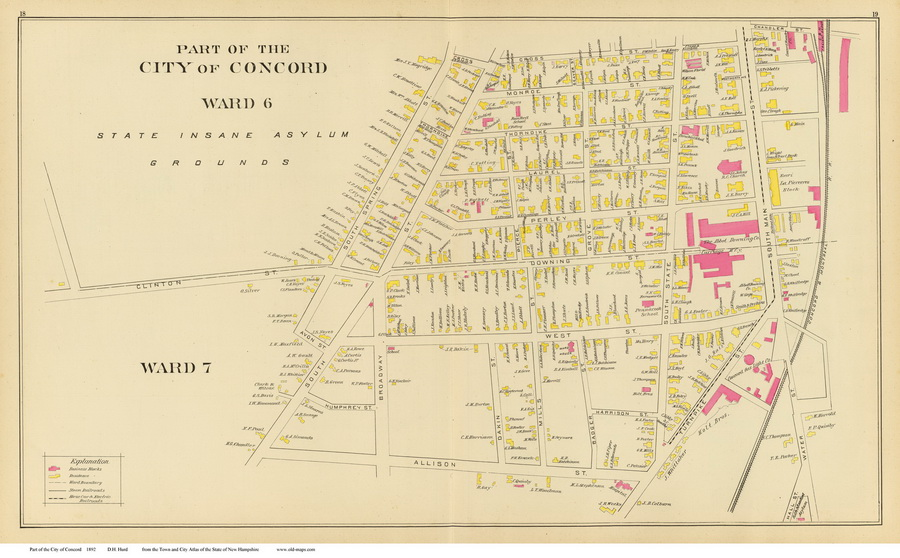 Old Maps Of Concord NH 1892