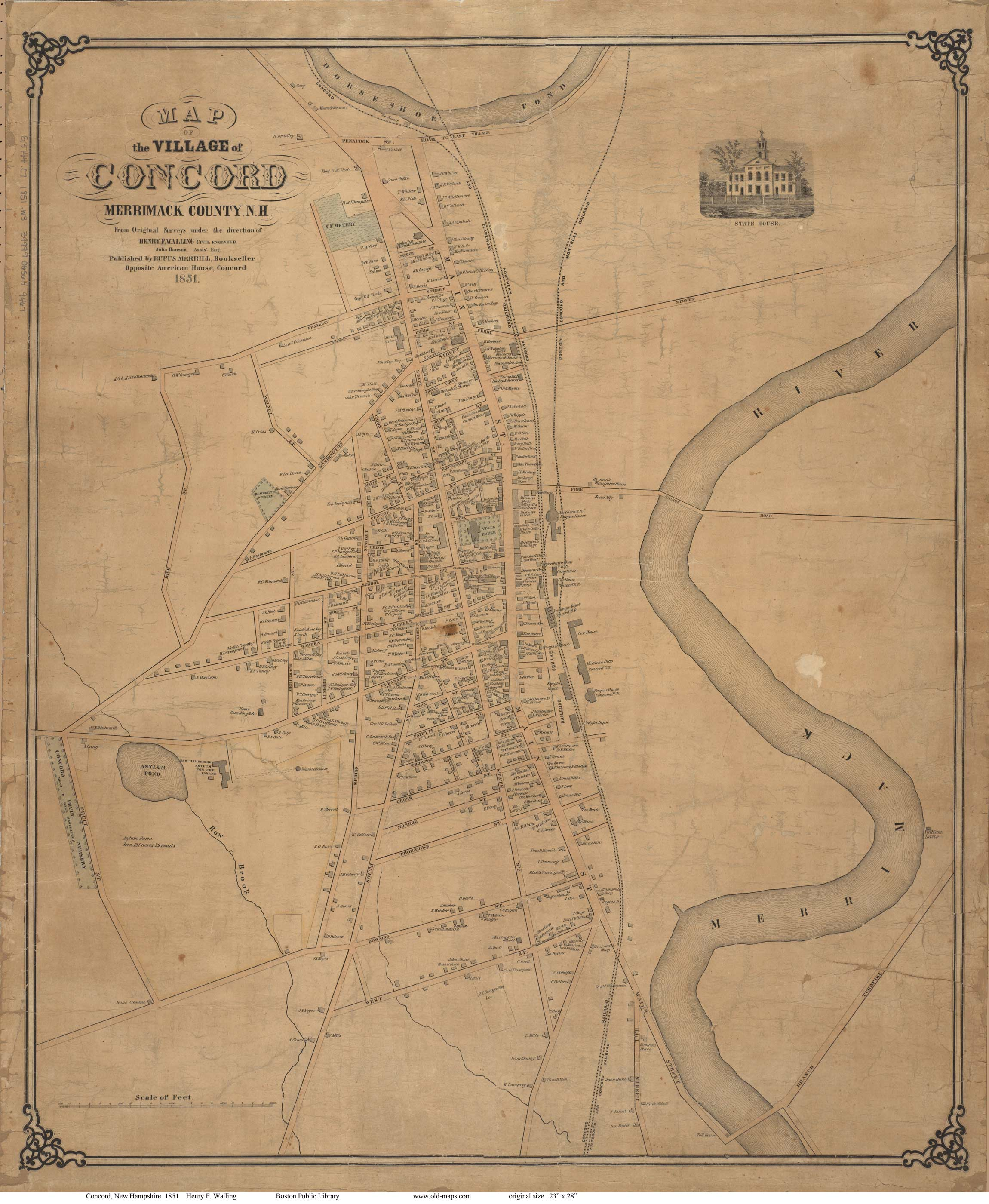 Old Maps Of Concord NH