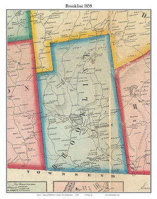 Old maps of Hillsboro County, NH