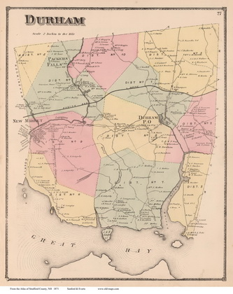 Old Maps of Strafford County, NH Durham Nh Map on