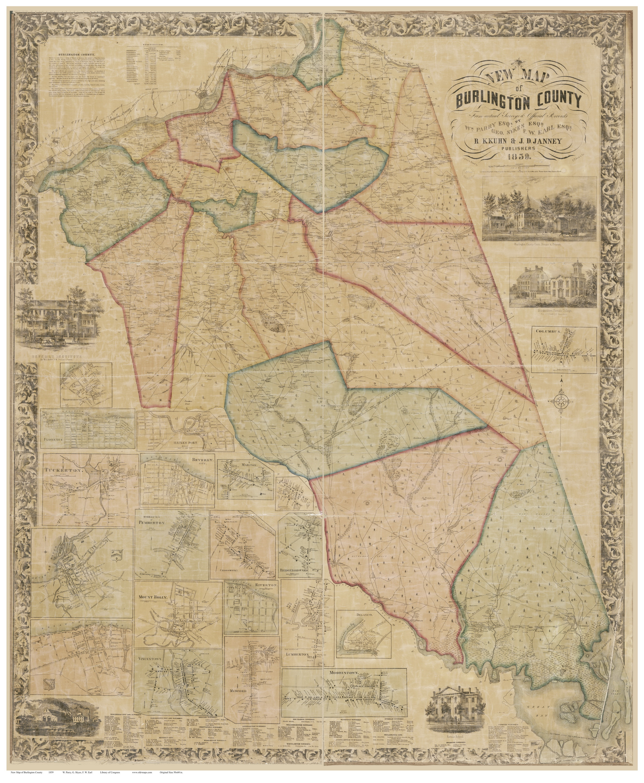 New Jersey County Maps - Map of nj counties