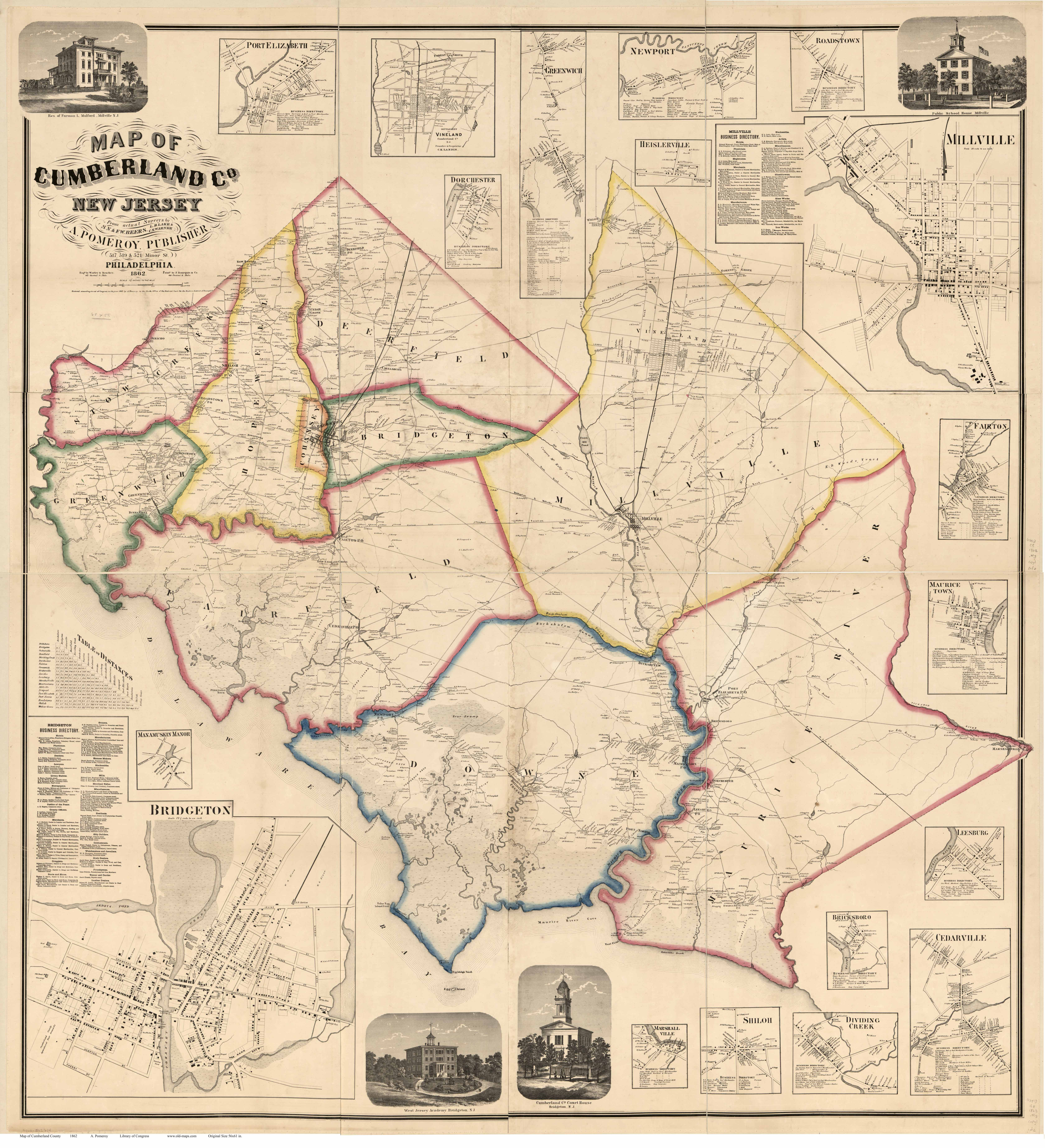 New Jersey County Maps on