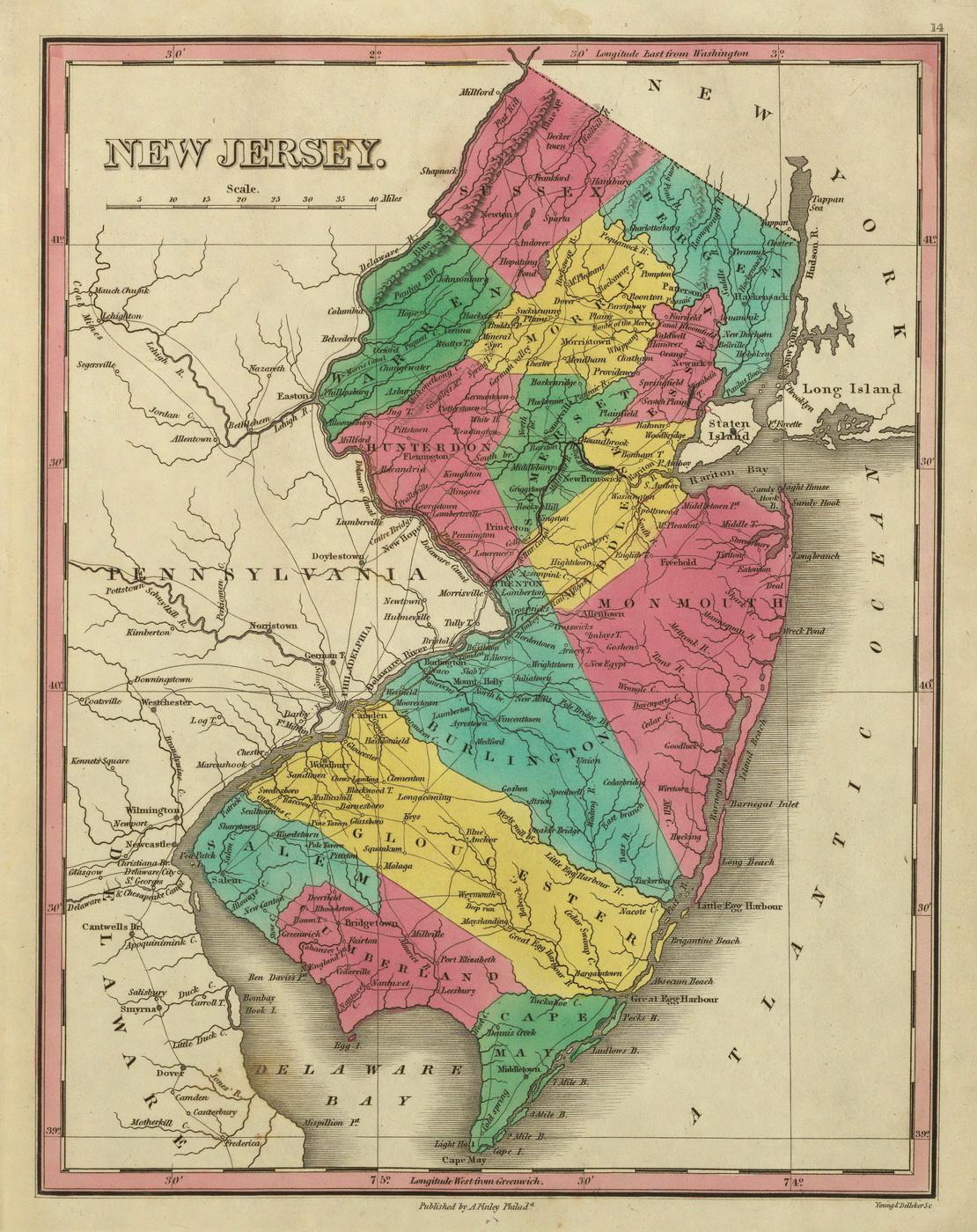 Vintage nj maps