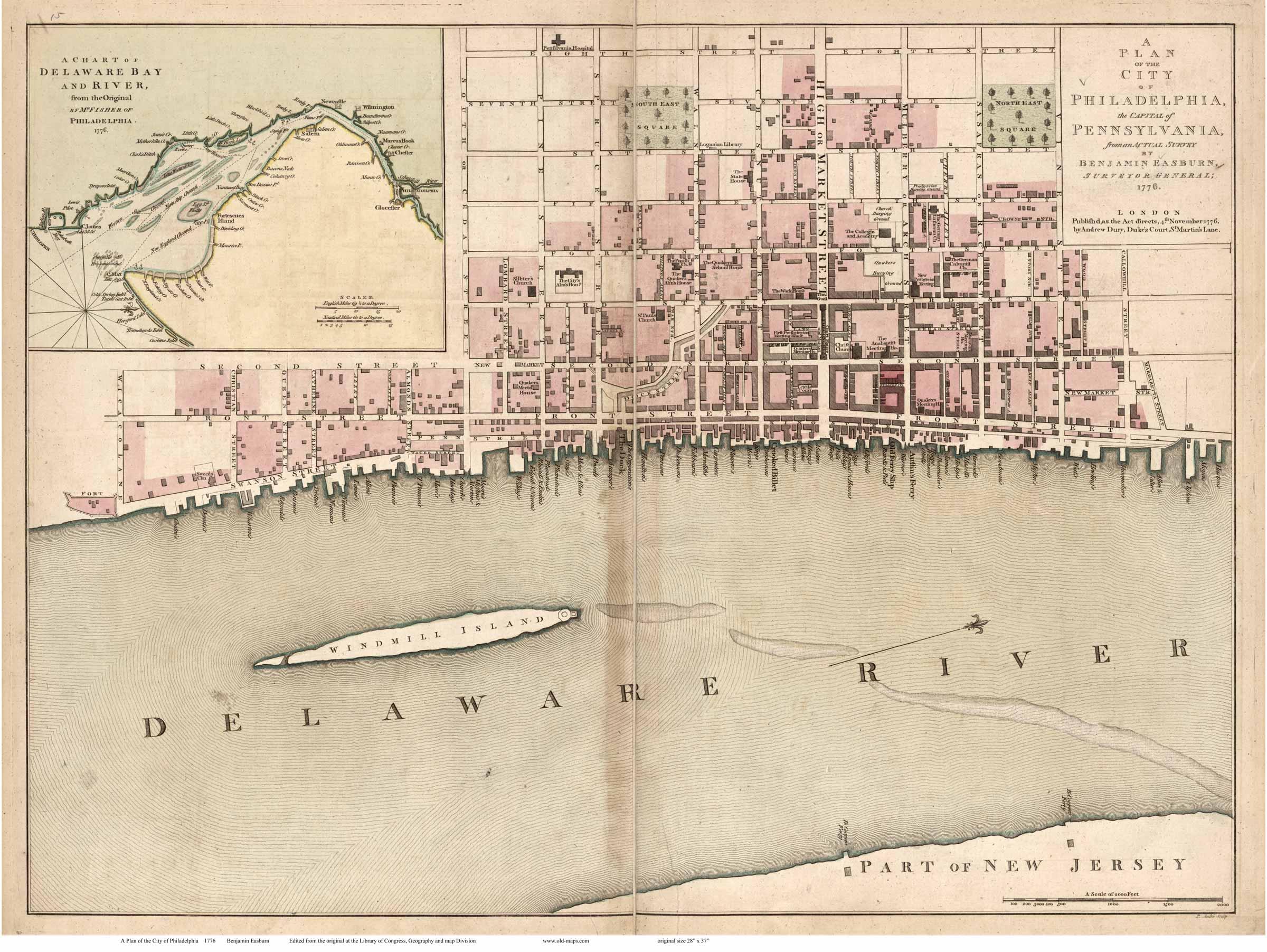 Old Maps Of Philadelphia PA