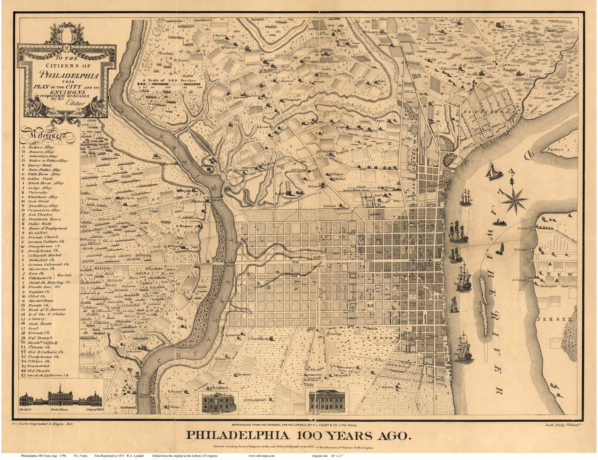 historic map of philadelphia Old Maps Of Philadelphia Pa historic map of philadelphia