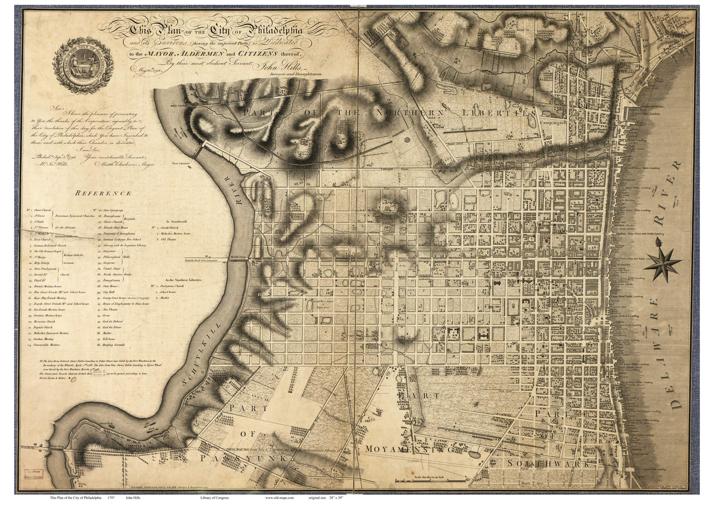 Old Maps of Philadelphia, PA