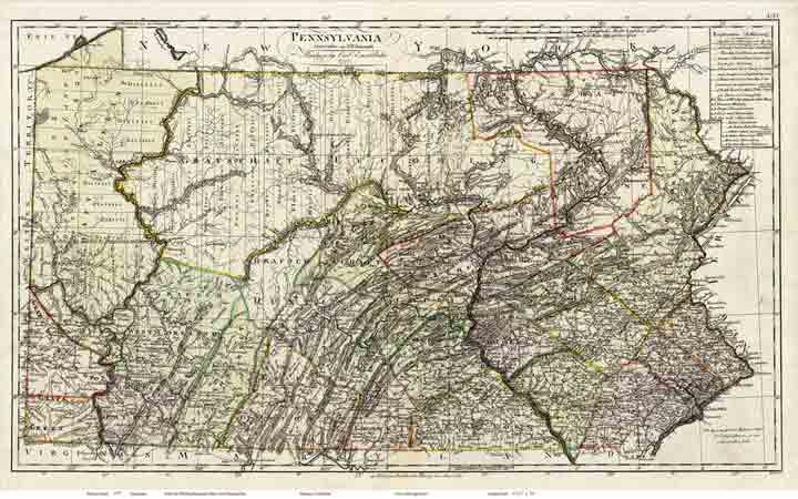 Pennsylvania - Map of pa towns