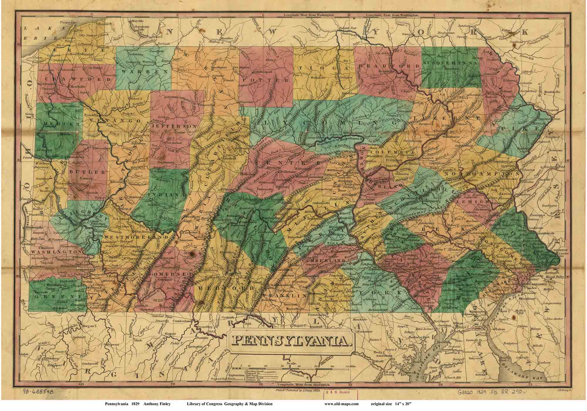 Old Maps Of Pennsylvania