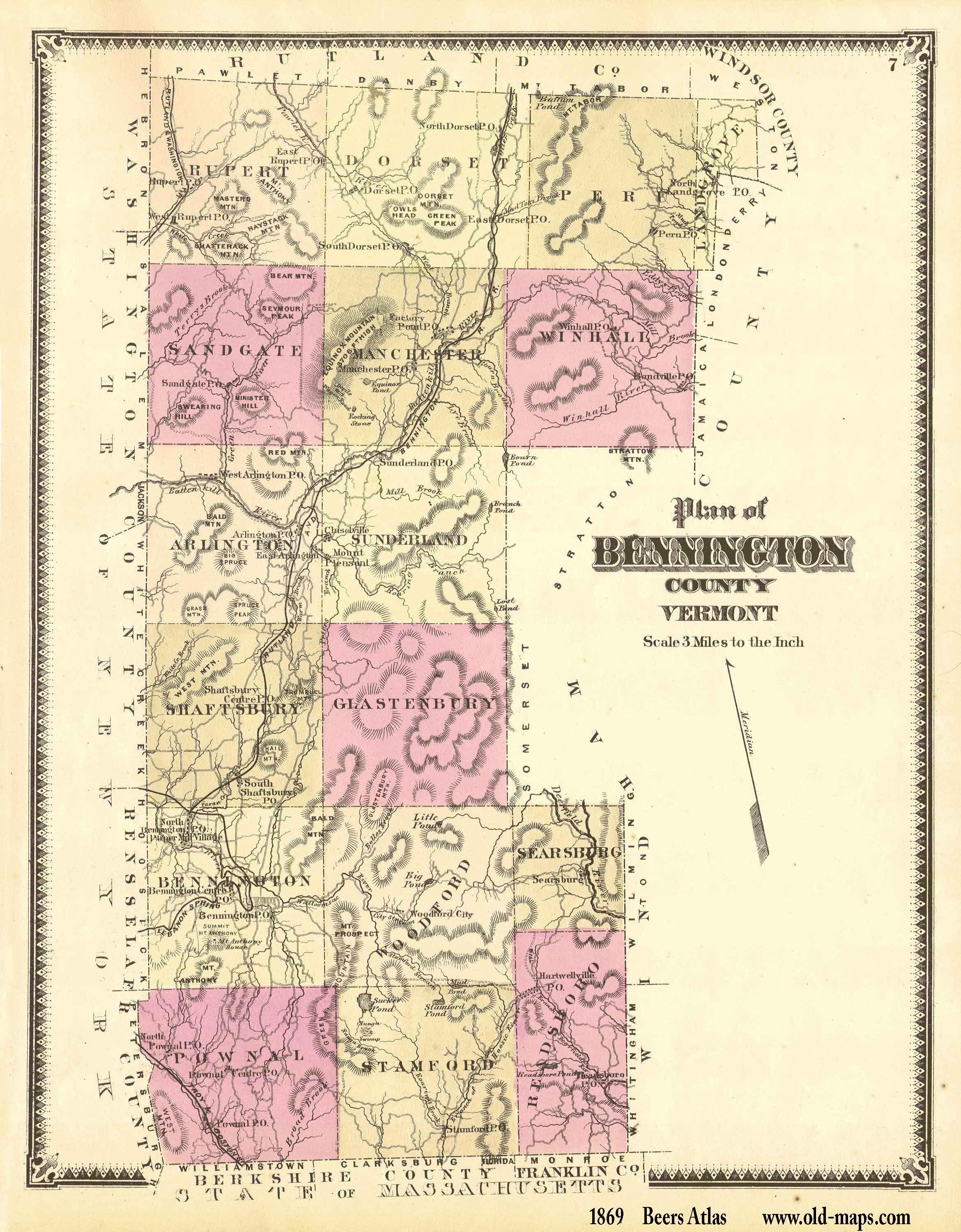 Vermont County Map - Us map vermont