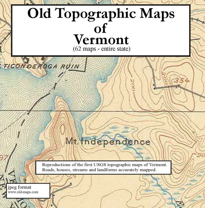 Old Vermont Topographic Maps CDROM