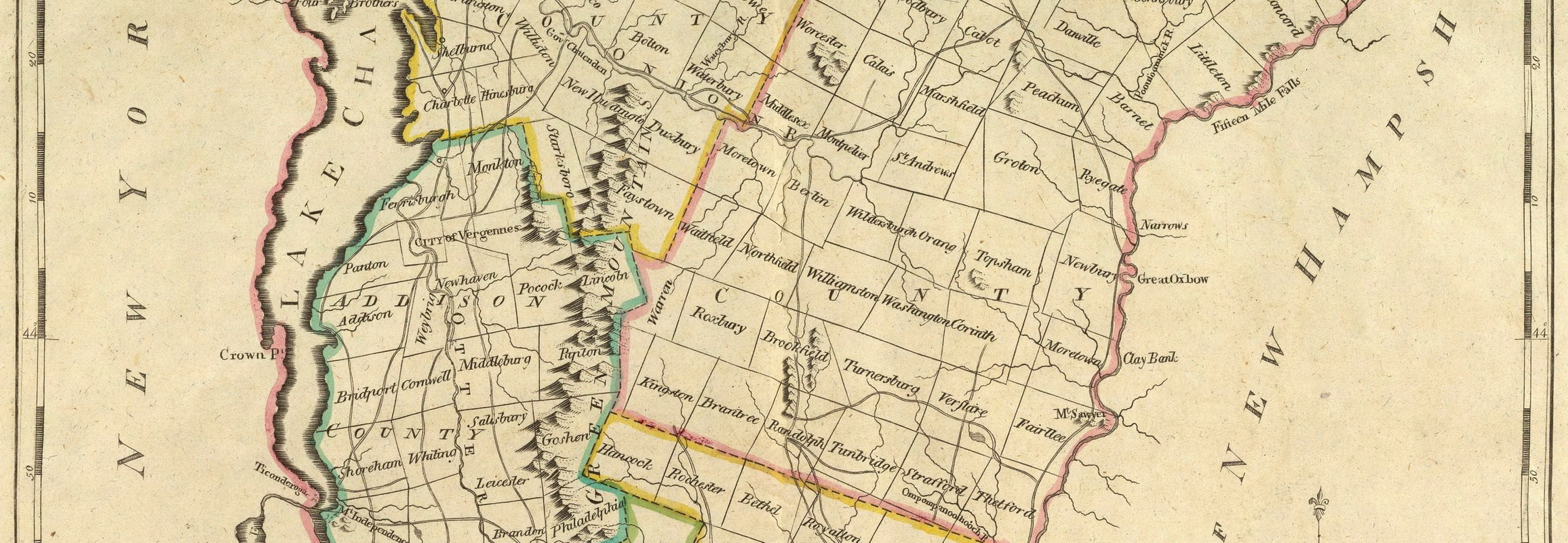 Old Maps of Vermont