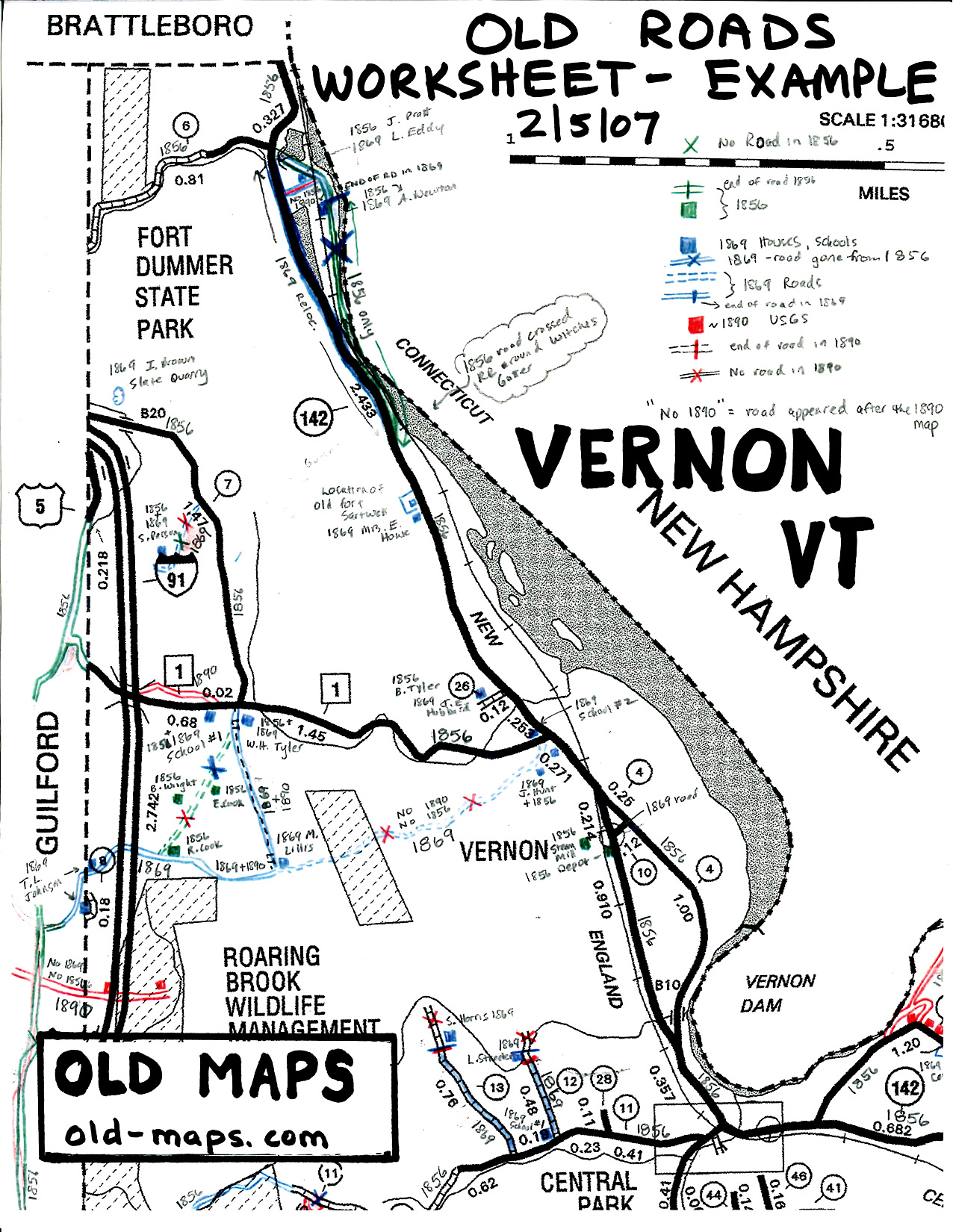 BaseMap For Research - Us map vermont