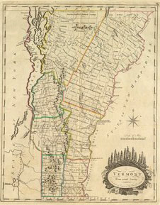 Old Maps Of Vermont - Vermont in usa map