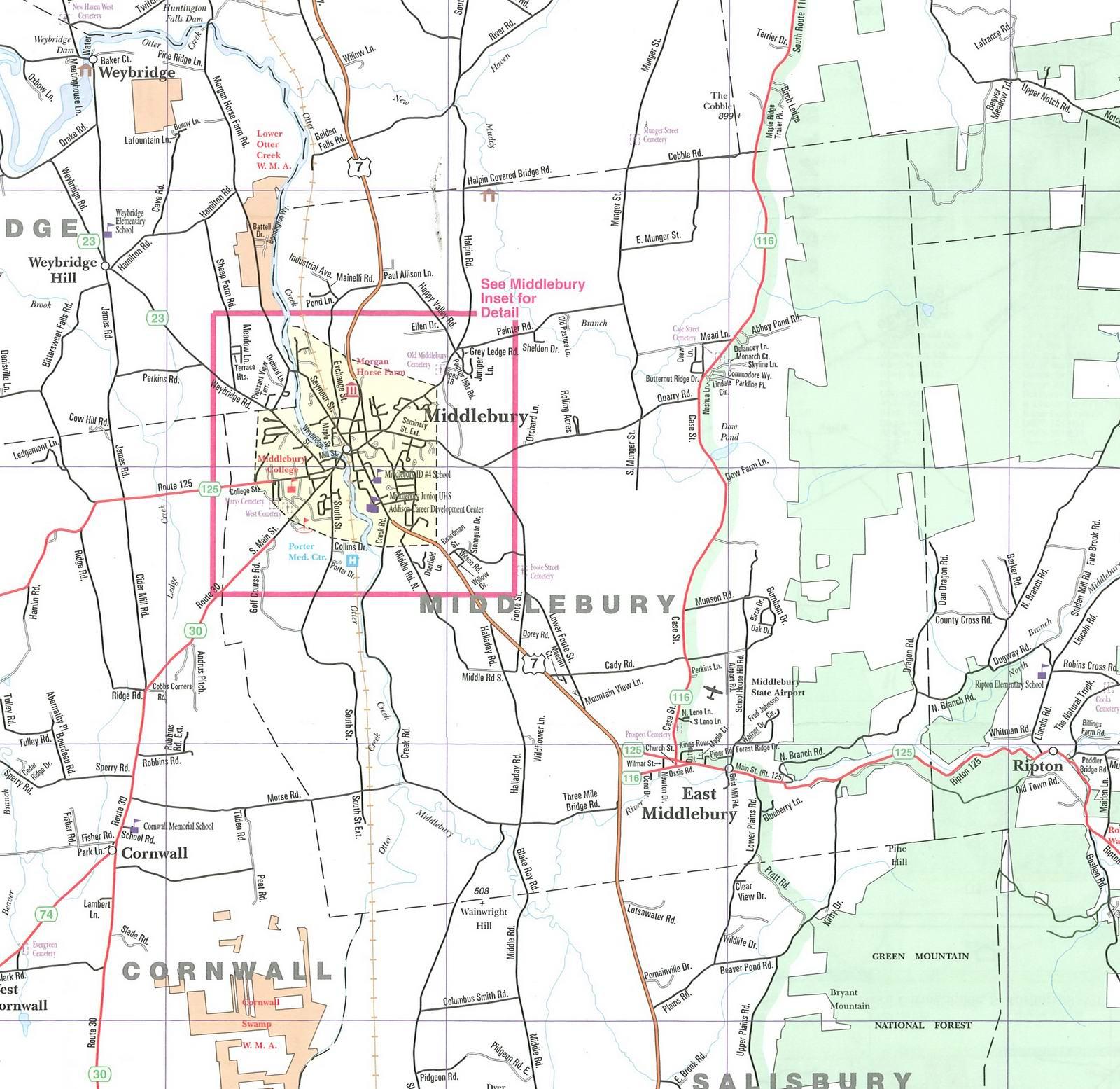 Middlebury Vt Map
