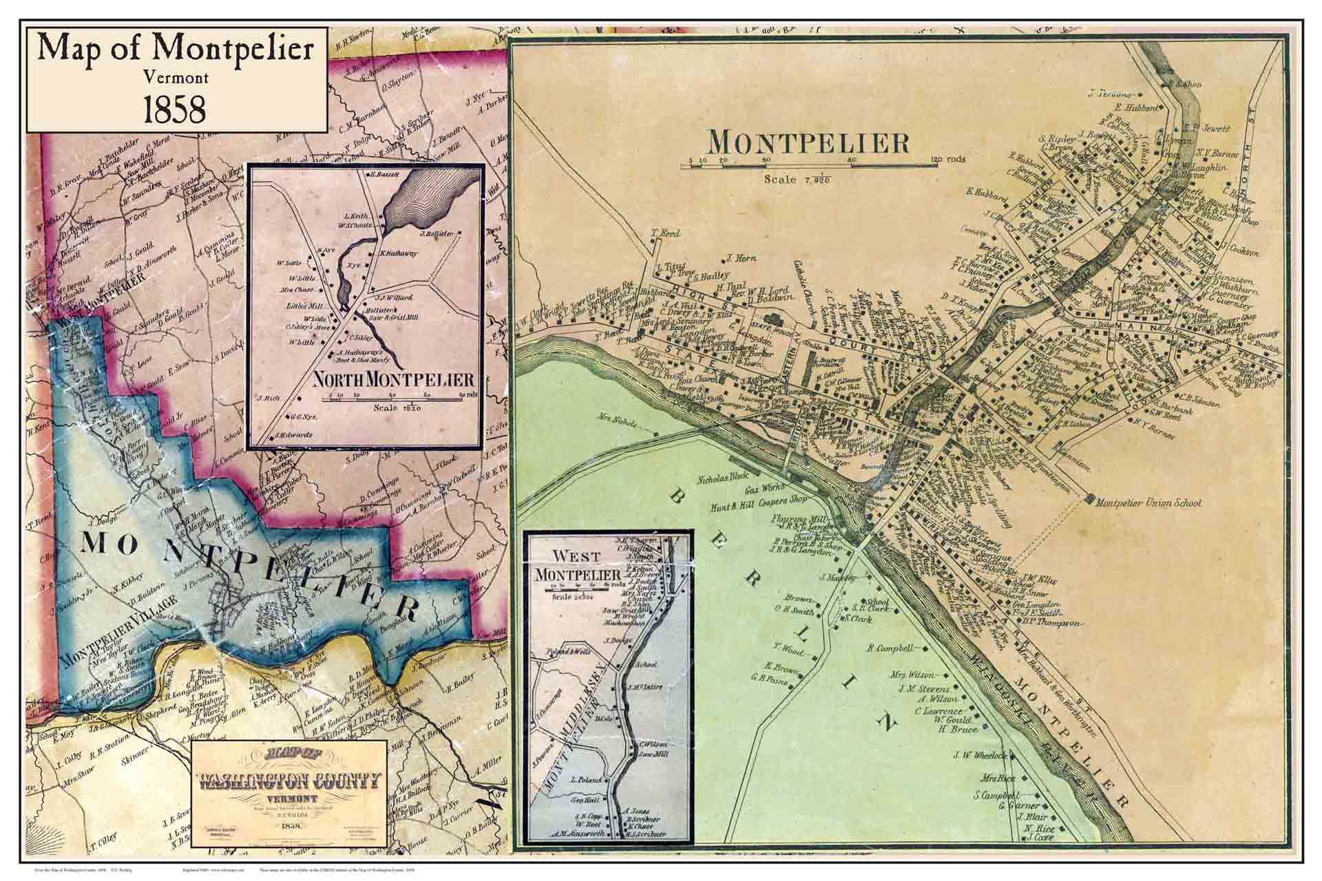 Montpelier Vermont Map Pictures To Pin On Pinterest