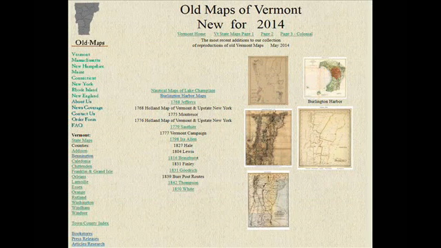 New Old Vermont Maps 2014