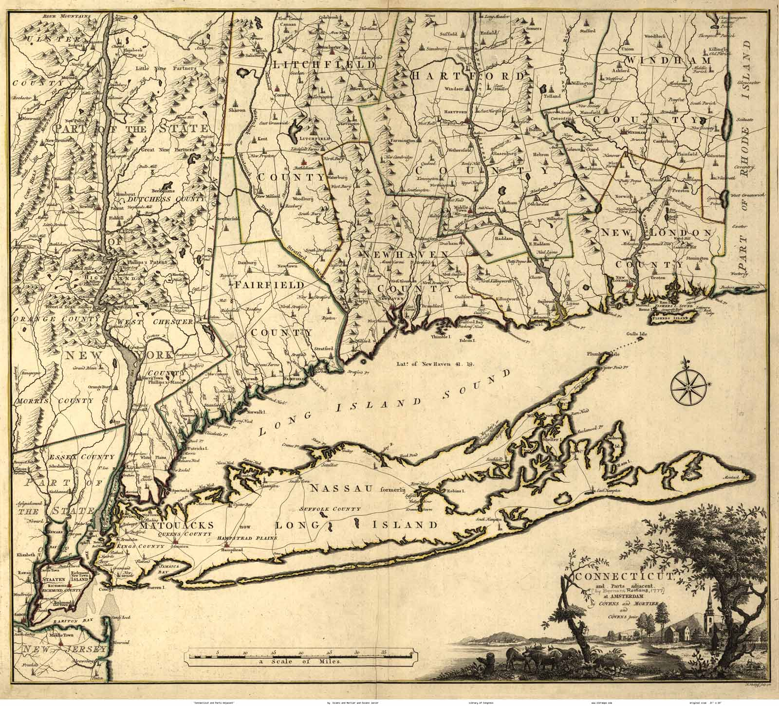 Connecticut 1780 covens mortier old maps click to view a large version of this print year 1780 gumiabroncs Images