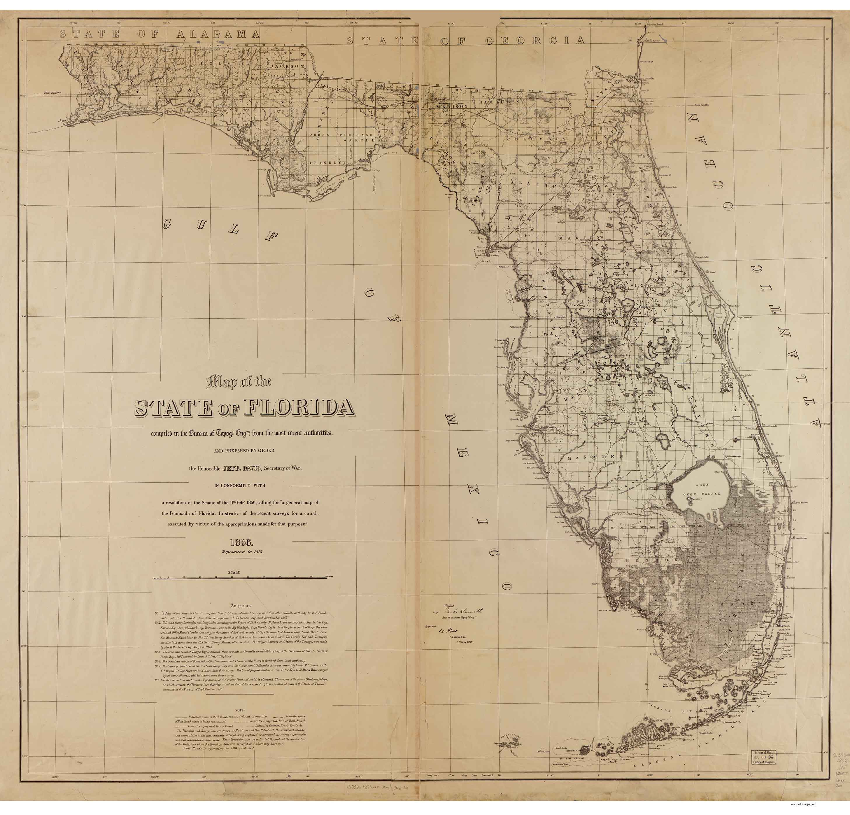 Old Maps Of Florida on