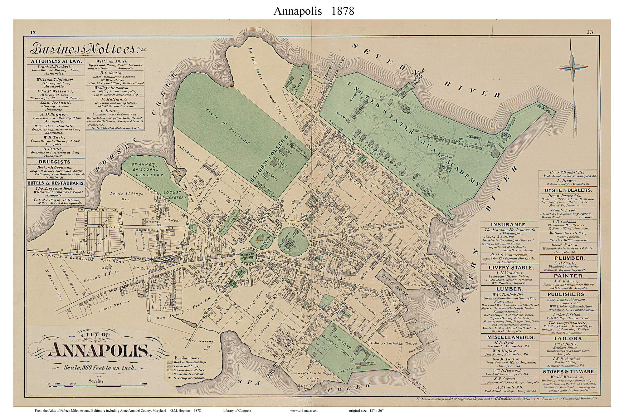 Annapolis City, Maryland 1878 Old Map Reprint - Anne Arundel Co. on map of kennedyville md, map of hughesville md, map of garrett park md, map of mitchellville md, map of delmarva md, map of kitzmiller md, map of tilghman island md, map of deep creek lake md, map of forestville md, map of ft washington md, map of millington md, map of arnold md, map va md, map of naval academy, map of edgewood arsenal md, map of the eastern shore md, map of queen anne's county md, map of accident md, map of fruitland md, map of taylors island md,