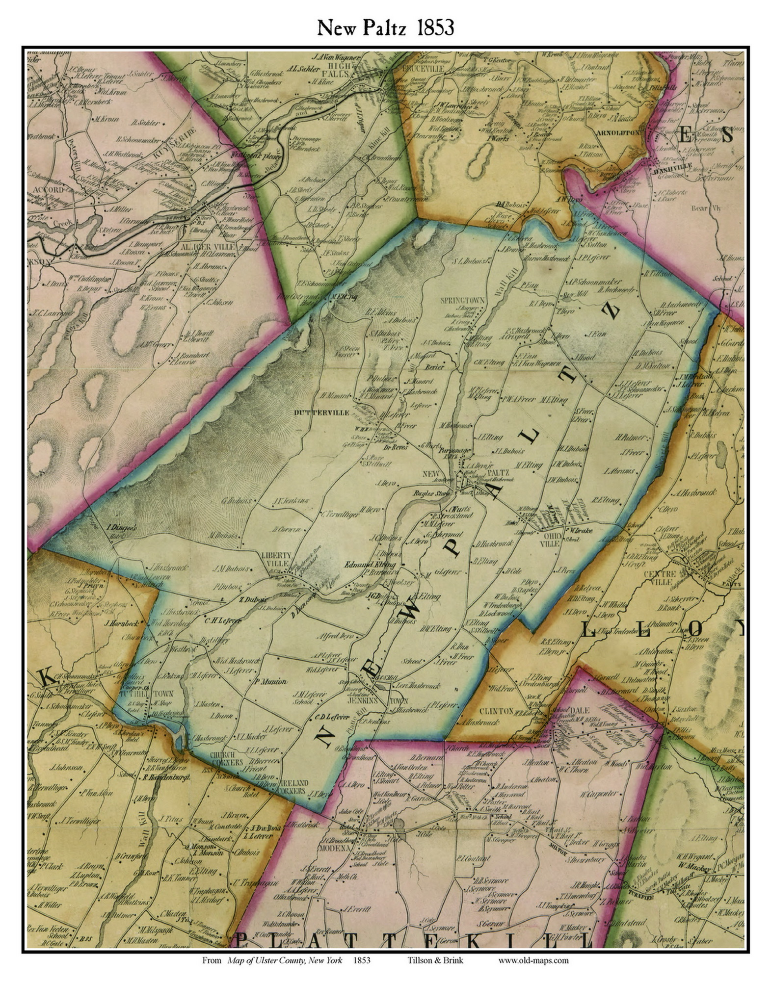 New Paltz  New York 1853 Old Town Map Custom Print   Ulster Co moreover Ulster County  New York Genealogy Genealogy   FamilySearch Wiki moreover Antique Dolph   Stewart Map of Ulster County  New York   EBTH furthermore  as well Maps and Plans ☆ Town of Denning  Ulster County  New York together with File Sanborn Fire Insurance Map from Ellenville  Ulster County  New furthermore List of counties in New York  state    Wikipedia likewise More Ulster County History furthermore BBB of Metro New York Service Area Map also Ulster County New And Surrounding  munities Towns Haets likewise Ulster County  New York detailed profile   houses  real estate  cost likewise Ulster County New York   Geographicus Rare Antique Maps additionally Ulster Landing and East Kingston together with  together with New York County Map in addition Digital Collections   New York State Archives. on map of ulster county new york