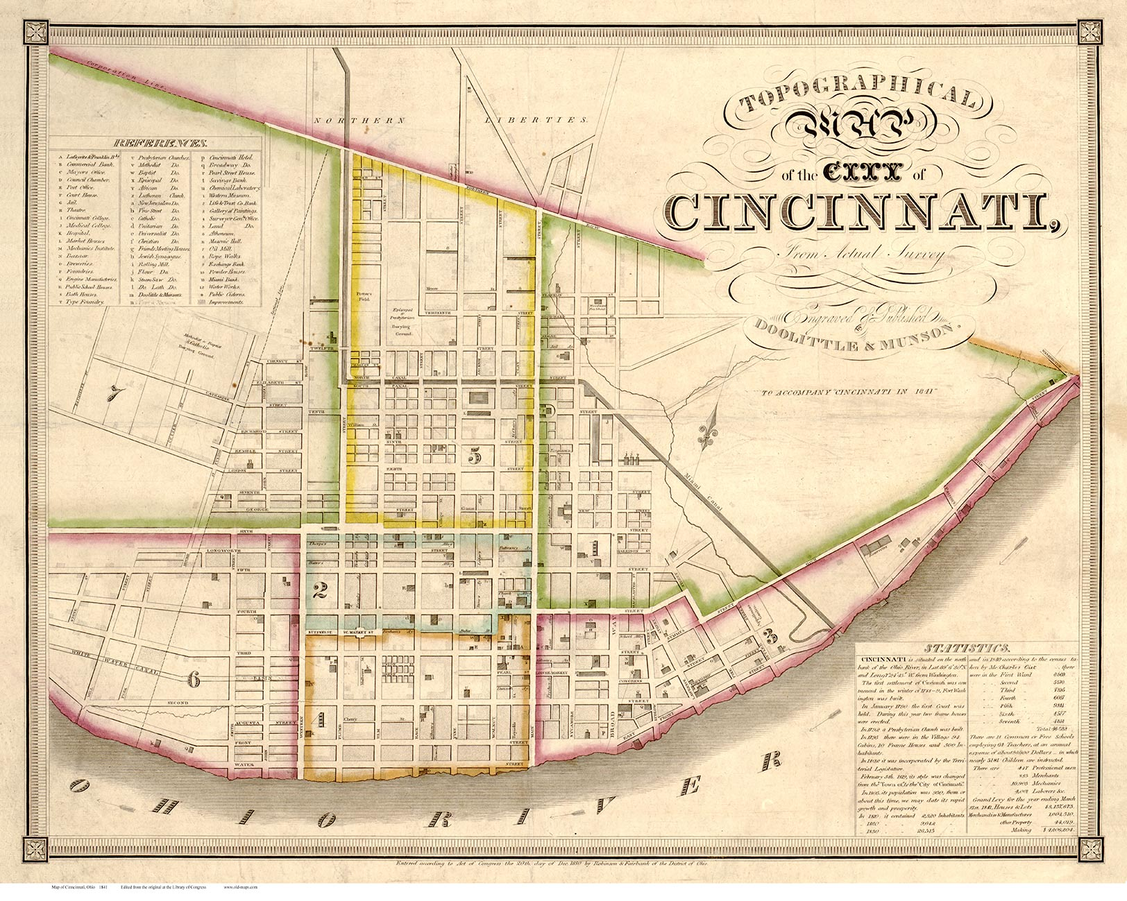 Cincinnati 1841 Doolittle & Munson - Old Map Reprint - Ohio Cities on ohio county map with major cities, large maps of northern ohio, large maps of northeast ohio, large map of missouri, large map of london, large map of tennessee, midwest map with cities, northeast ohio county map with cities, large maps of columbus ohio, large map of south carolina, morrow county ohio map cities, large map of montana, ohio map with counties and cities, large map of mississippi, southwestern ohio map with cities, large map columbiana oh, large map of north dakota, large maps of ohio 45140, large map of cincinnati, printable ohio map with cities,