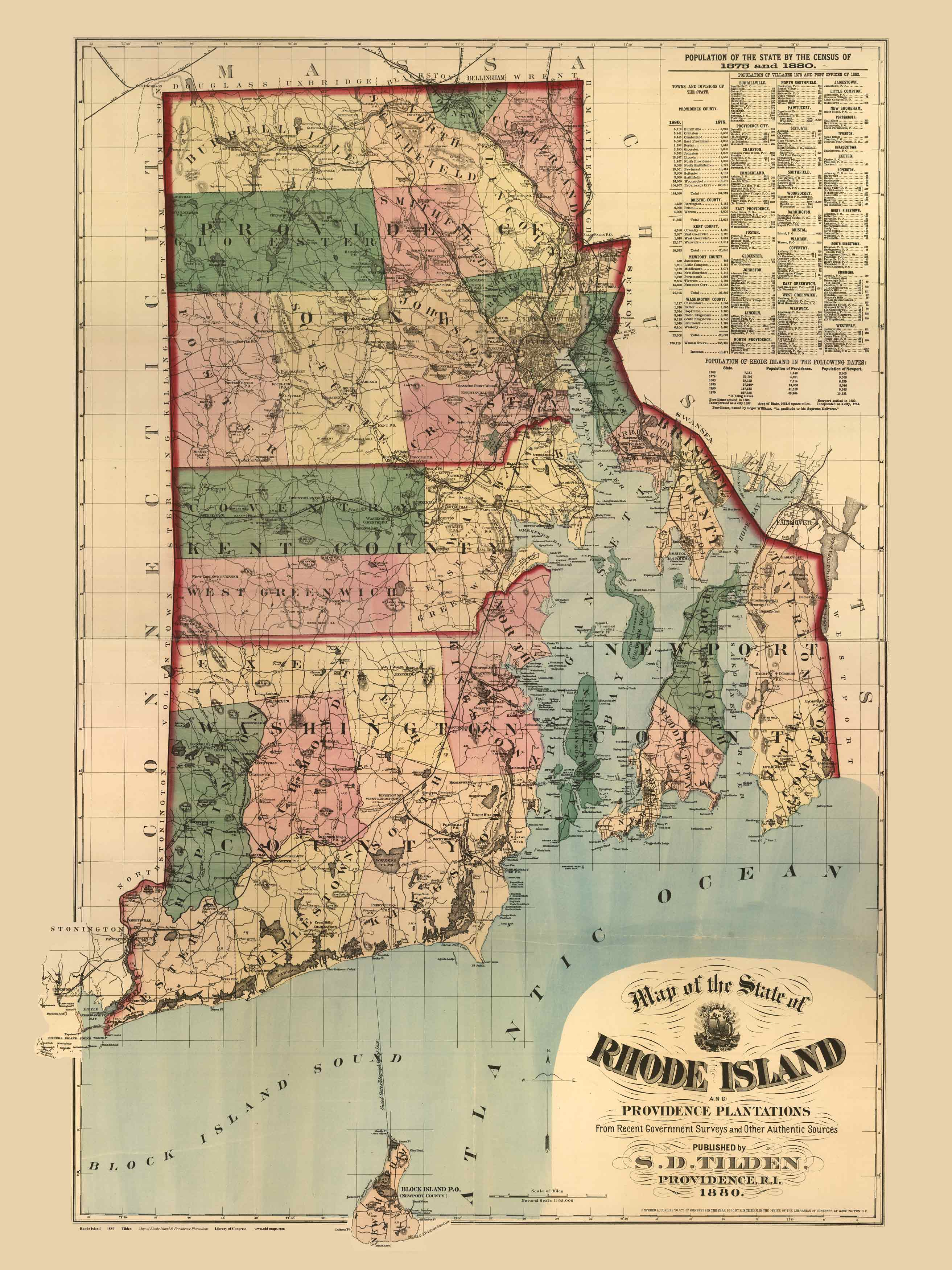 Rhode island 1880 tilden old maps click to view a large version of this print publicscrutiny Choice Image