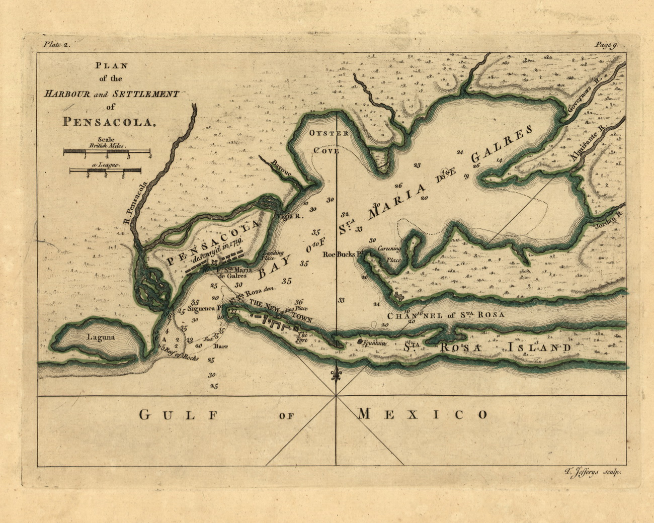 pensacola harbour and settlement 1768 old map reprint usa jefferys 1768 atlas 42b old maps pensacola harbour and settlement 1768 old map reprint usa jefferys 1768 atlas 42b old maps
