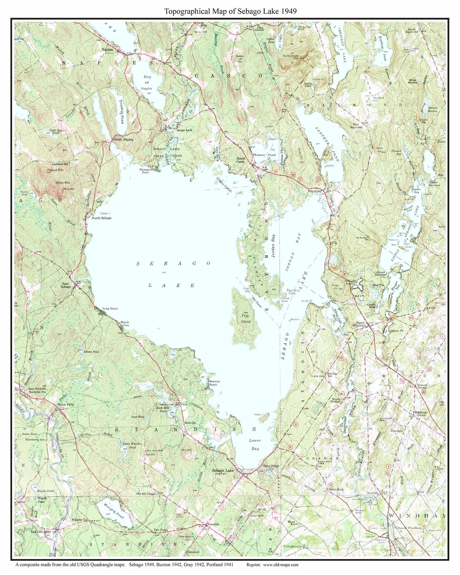 sebago lake map  my blog -