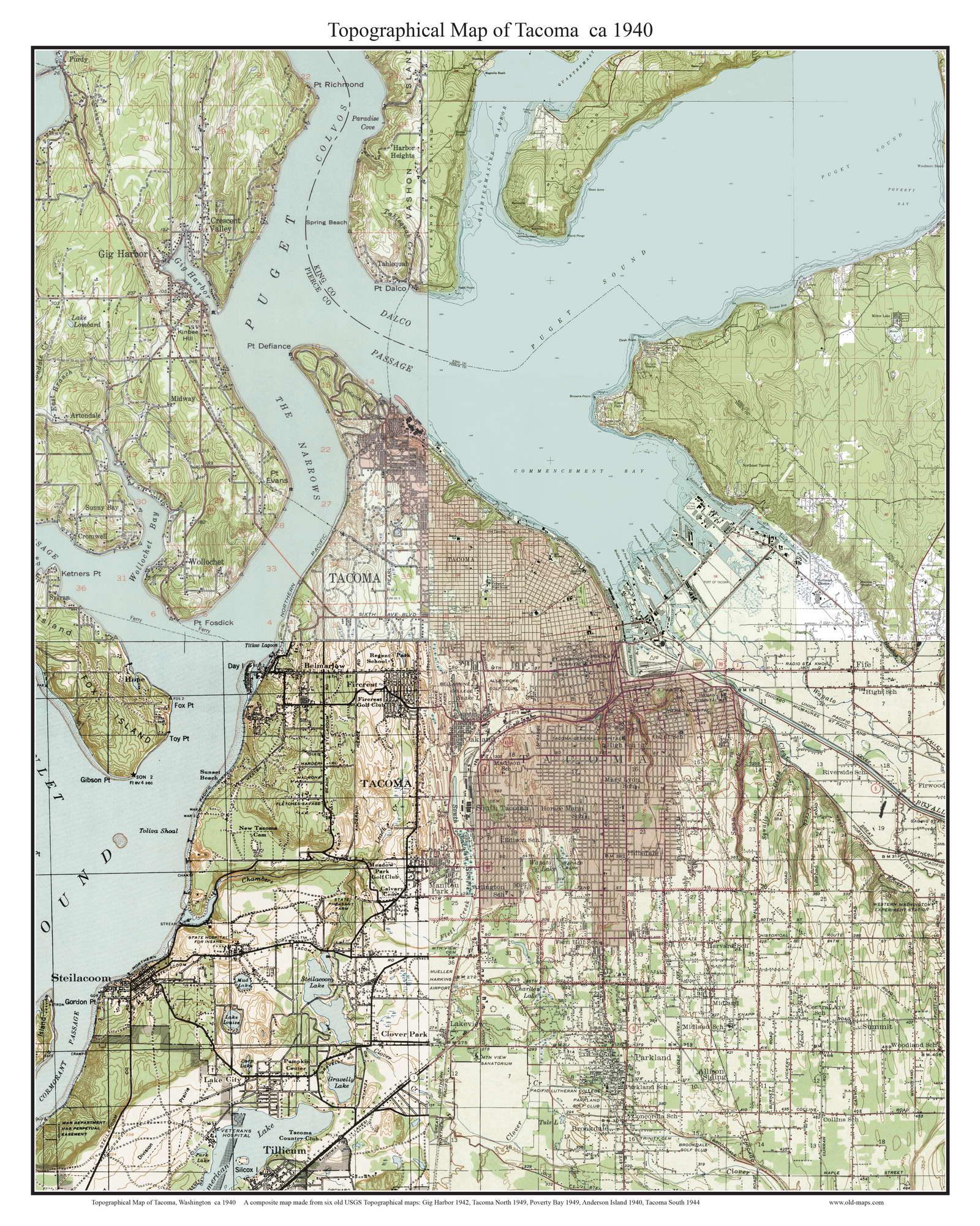 Tacoma 1940 - Custom USGS Old Topo Map - Washington State on map tacoma wash, map of tacoma washington 98404, map of neighborhoods tacoma wa, map of tacoma and surrounding cities, map of washington virginia area, zip code map houston and surrounding area, tacoma dome parking area, map of washington hood canal area, map of north tacoma washington, map of greater seattle tacoma area, map of north end tacoma, map of washington dc area, map of washington seattle area, map of washington state military bases, map of downtown tacoma wa, map tacoma fife, map seattle washington usa, map of washington oregon area, map of washington baltimore area, map of seattle and surrounding cities,